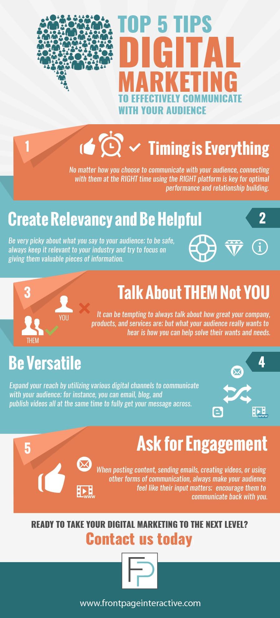 5 digital marketing tips for communication
